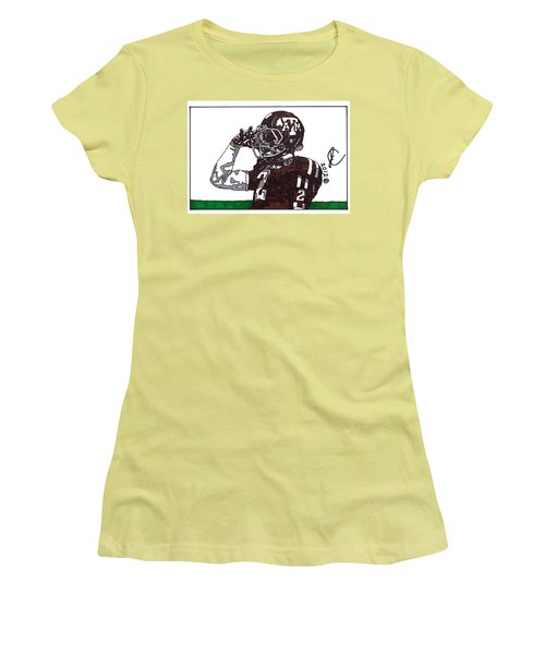 Johnny Manziel The Salute Women's T-Shirt (Junior Cut) by Jeremiah Colley