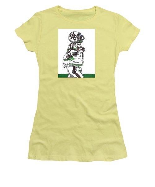 Johnny Manziel 4 Women's T-Shirt (Junior Cut) by Jeremiah Colley