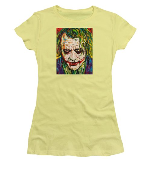 Joker Women's T-Shirt (Junior Cut) by Michael Wardle