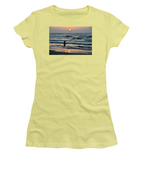 Jumping For Joy Women's T-Shirt (Junior Cut) by Debra Martz
