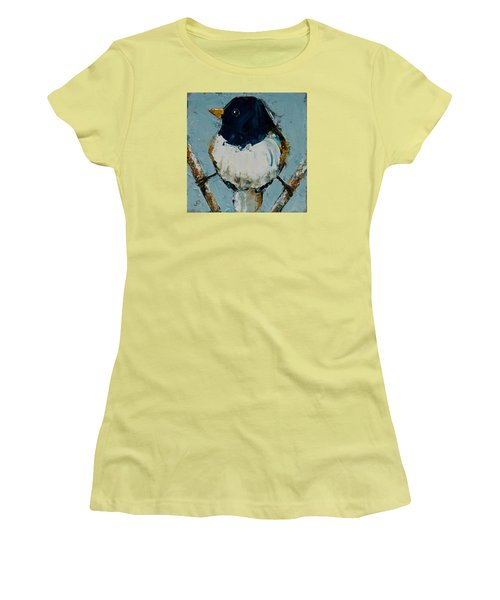 Junco On Stilts Women's T-Shirt (Junior Cut) by Jani Freimann