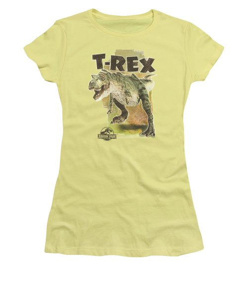 Jurassic Park - T Rex Women's T-Shirt (Junior Cut) by Brand A