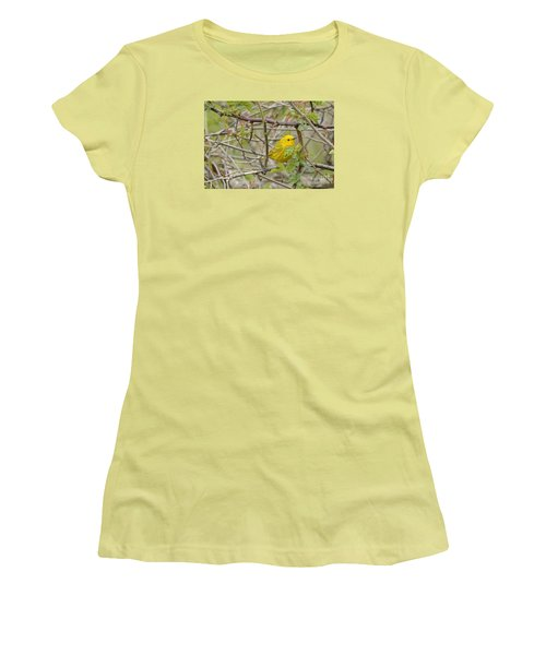 Women's T-Shirt (Junior Cut) featuring the photograph Just Brightening Your Day by Randy Bodkins