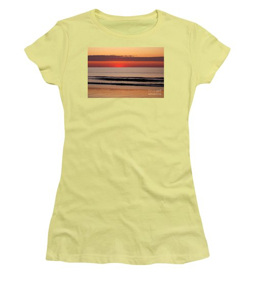 Women's T-Shirt (Junior Cut) featuring the photograph Just Showing Up Along Hampton Beach by Eunice Miller