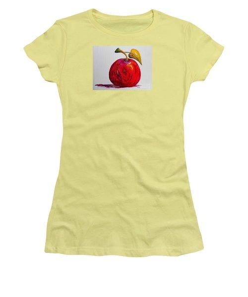 Kaleidoscope Apple -- Or -- Apple For The Teacher  Women's T-Shirt (Junior Cut) by Eloise Schneider