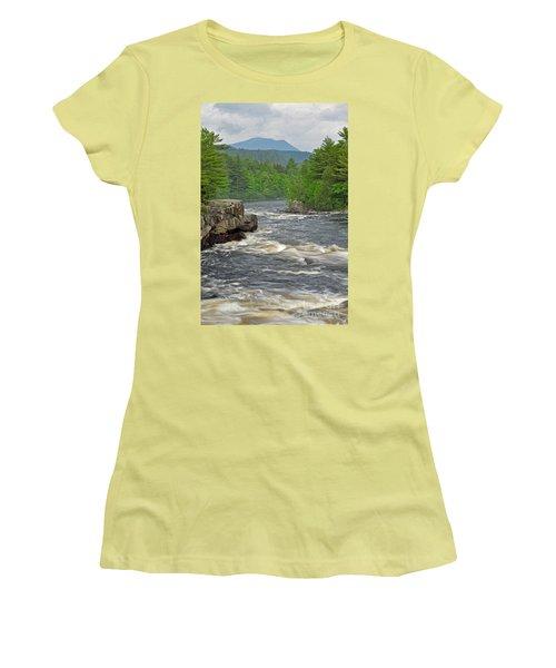 Katahdin And Penobscot River Women's T-Shirt (Junior Cut)