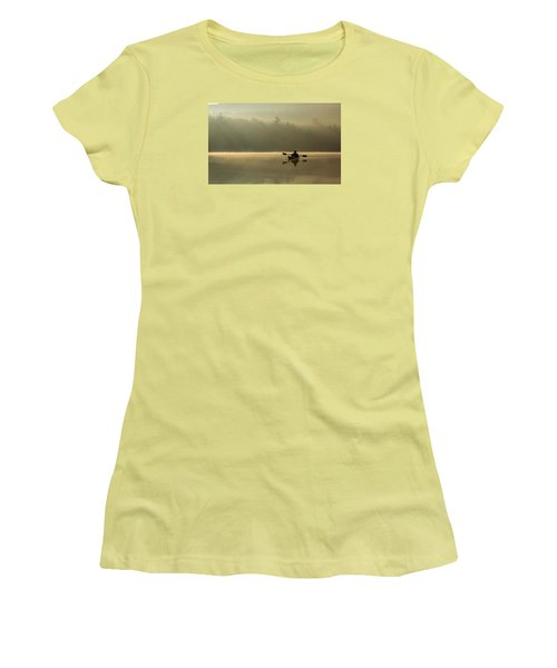 Kayaking At Sunup Women's T-Shirt (Athletic Fit)