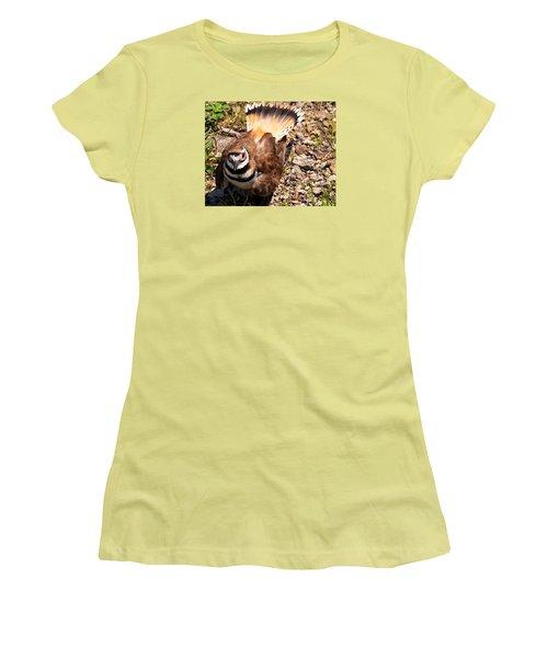 Killdeer On Its Nest Women's T-Shirt (Junior Cut) by Chris Flees
