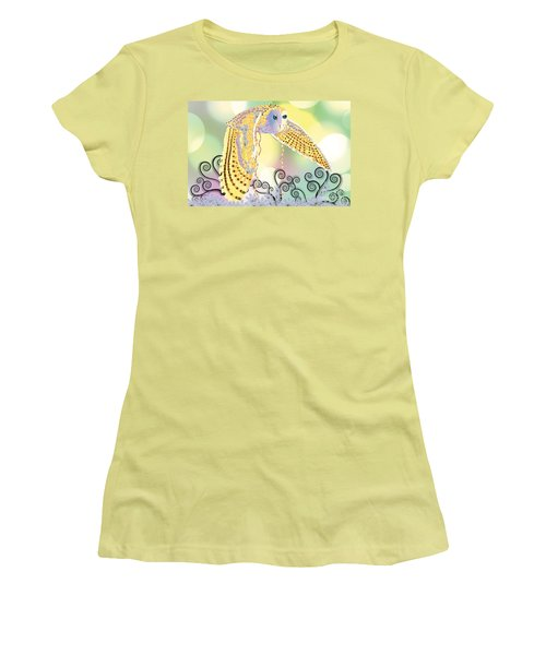 Women's T-Shirt (Junior Cut) featuring the digital art Kindred Light Owl by Kim Prowse