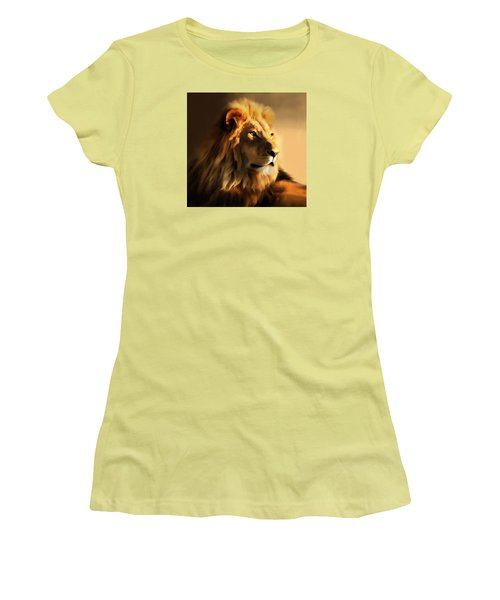King Lion Of Africa Women's T-Shirt (Athletic Fit)
