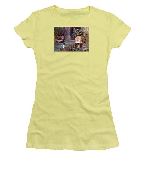 Kitten Italiano Women's T-Shirt (Junior Cut) by Barbie Corbett-Newmin