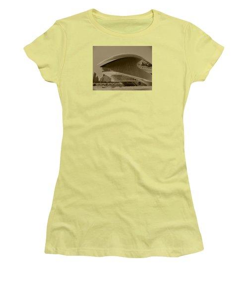 Women's T-Shirt (Junior Cut) featuring the photograph L' Hemisferic - Valencia by Juergen Weiss