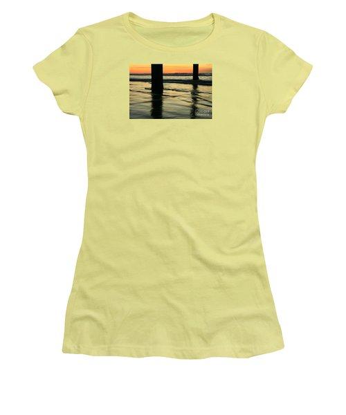 Women's T-Shirt (Junior Cut) featuring the photograph La Jolla Shores Sunset by John F Tsumas