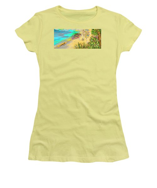 La Spiaggia Women's T-Shirt (Athletic Fit)