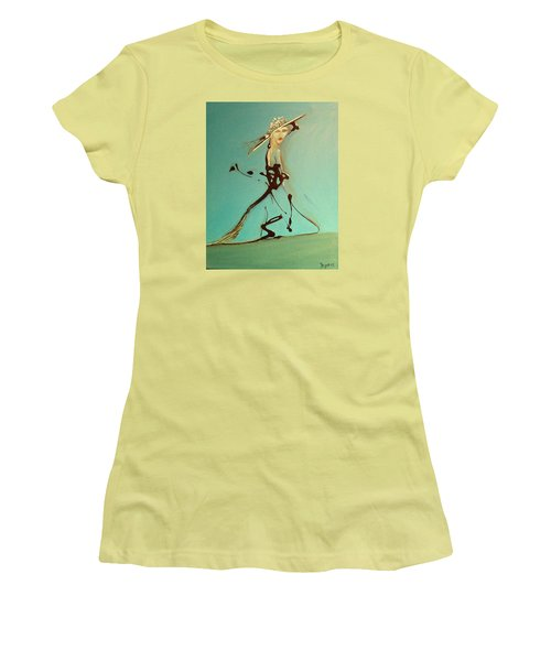 Lady In The Hat Women's T-Shirt (Junior Cut) by Kicking Bear  Productions