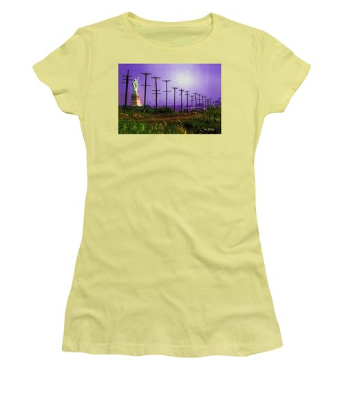 Lady Liberty Lost Women's T-Shirt (Junior Cut) by RC deWinter