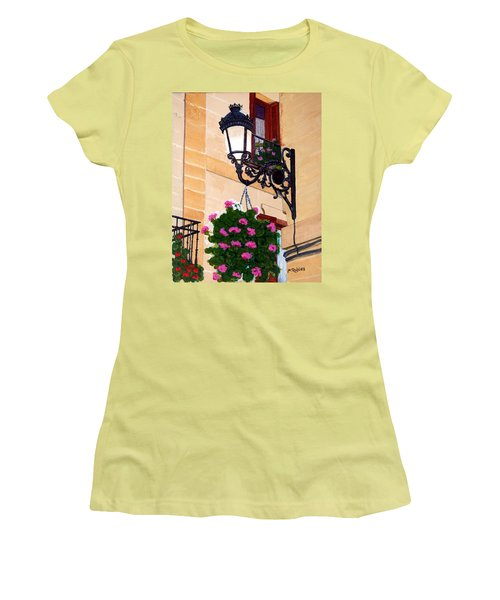 Laguardia Street Lamp  Women's T-Shirt (Junior Cut) by Mike Robles