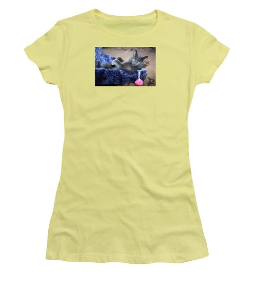 Laid Back Women's T-Shirt (Junior Cut) by Sally Weigand