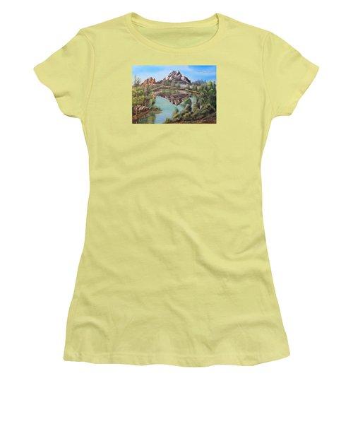 Lakehouse Women's T-Shirt (Athletic Fit)