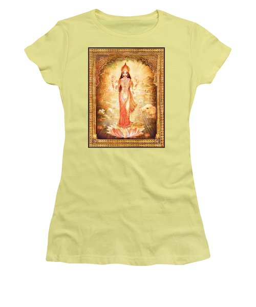 Lakshmi Goddess Of Fortune With Lighter Frame Women's T-Shirt (Athletic Fit)