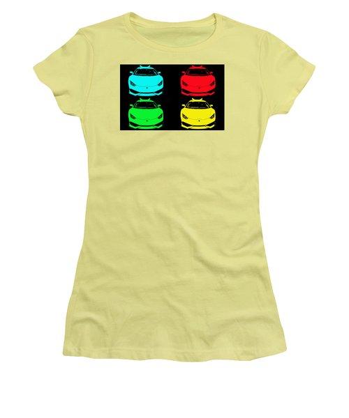 Lambo Pop Art Women's T-Shirt (Junior Cut) by J Anthony