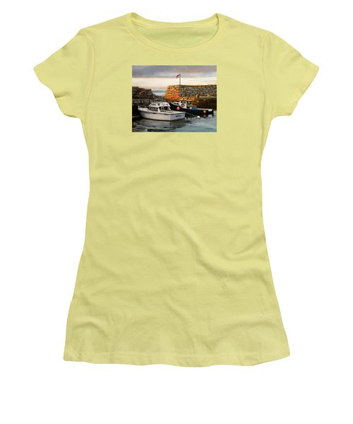 Lanes Cove Fishing Boats Women's T-Shirt (Athletic Fit)