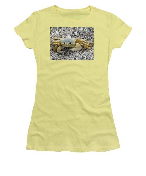 Women's T-Shirt (Junior Cut) featuring the photograph Ghost Crab by Cynthia Guinn