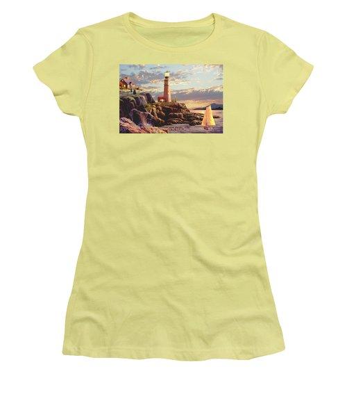 Last Light  Women's T-Shirt (Junior Cut) by Ron Chambers