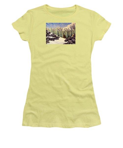 Late Crossing Women's T-Shirt (Junior Cut) by Jack Malloch