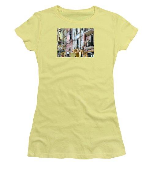 Laundry Day In Procida Women's T-Shirt (Junior Cut) by Jennie Breeze