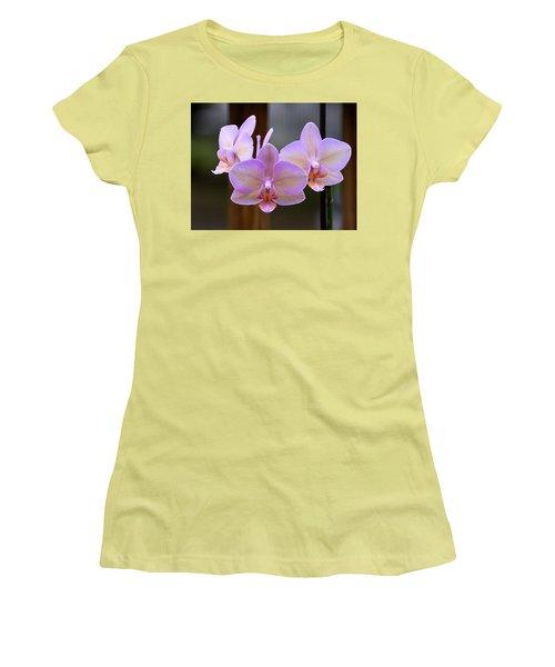 Lavender Orchid Women's T-Shirt (Junior Cut) by Kathy Eickenberg
