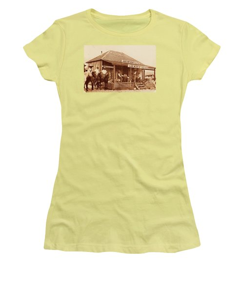 Law West Of The Pecos Women's T-Shirt (Junior Cut) by Pg Reproductions