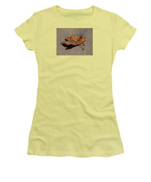 Women's T-Shirt (Junior Cut) featuring the photograph Leaf Composed by Joe Schofield