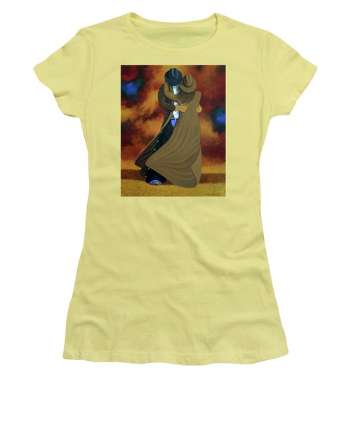 Lean On Me Women's T-Shirt (Junior Cut) by Lance Headlee