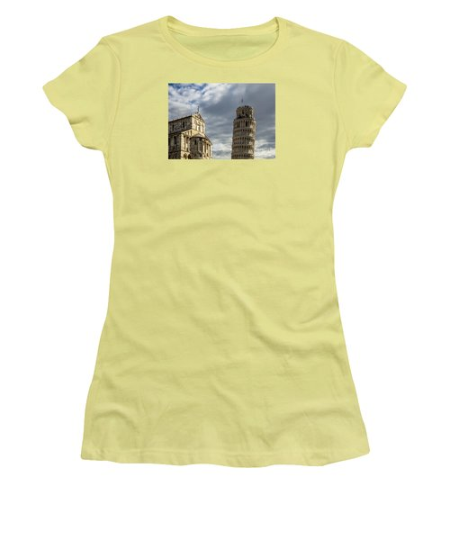 Leaning Tower And Duomo Di Pisa Women's T-Shirt (Athletic Fit)