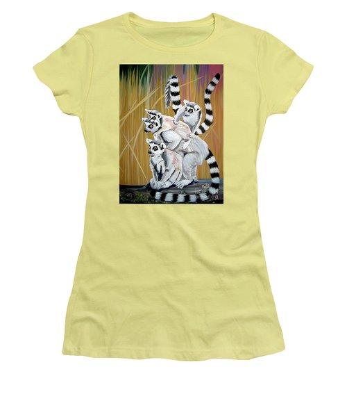 Leapin Lemurs Women's T-Shirt (Athletic Fit)