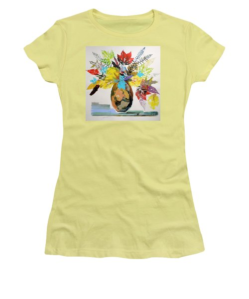 Leaves And Fronds Women's T-Shirt (Athletic Fit)