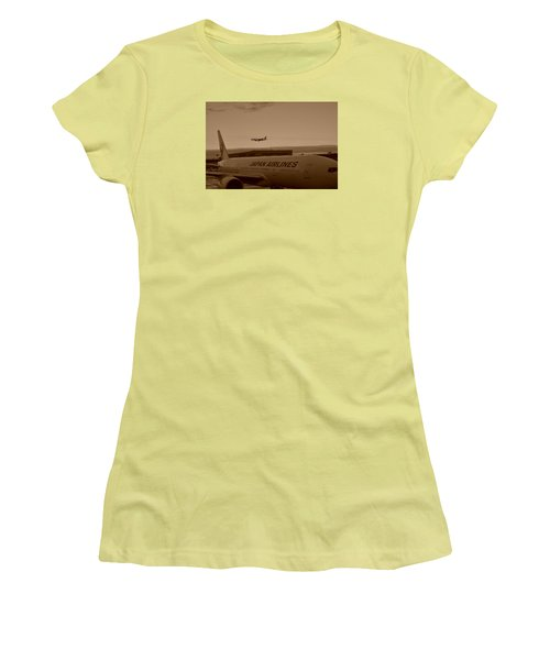 Leaving Japan Women's T-Shirt (Junior Cut) by Miguel Winterpacht