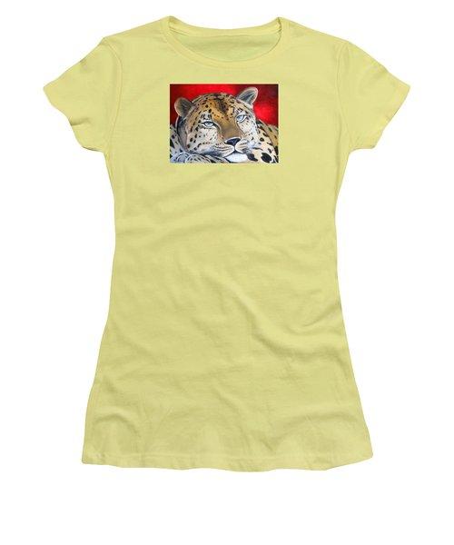 Leopardo Women's T-Shirt (Junior Cut) by Angel Ortiz