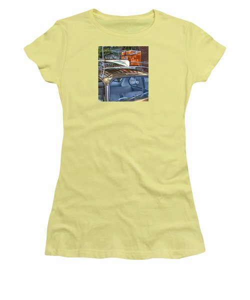 Let's Go Surfing Women's T-Shirt (Junior Cut) by Theresa Tahara