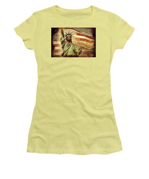 Declaration Of Independence Women's T-Shirt (Junior Cut) by Az Jackson