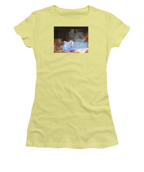 Women's T-Shirt (Athletic Fit) featuring the painting Life Is A Carnival Glass by Lynne Reichhart