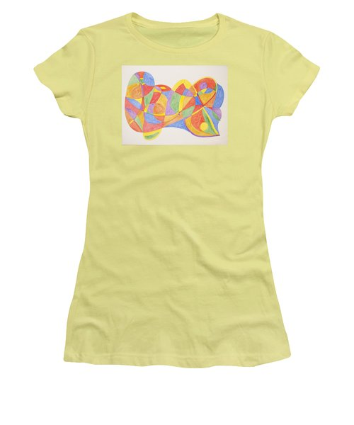 Women's T-Shirt (Junior Cut) featuring the painting Graffiti Life  by Stormm Bradshaw