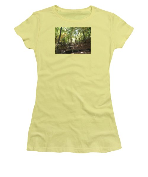 Light And Shadow Through The Forest Women's T-Shirt (Athletic Fit)
