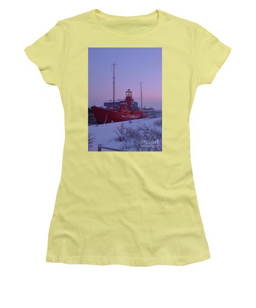Women's T-Shirt (Junior Cut) featuring the photograph Light Ship by John Williams