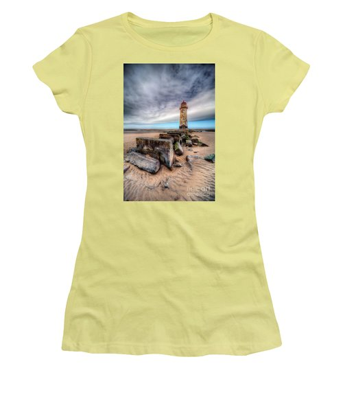 Lighthouse At Talacre  Women's T-Shirt (Junior Cut) by Adrian Evans
