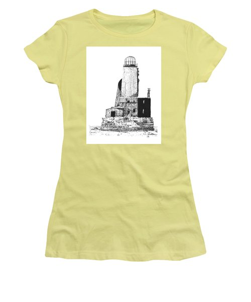 Women's T-Shirt (Junior Cut) featuring the drawing Lighthouse by C Sitton