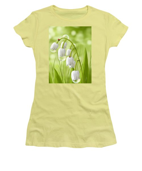 Lily Of The Valley Women's T-Shirt (Junior Cut) by Veronica Minozzi