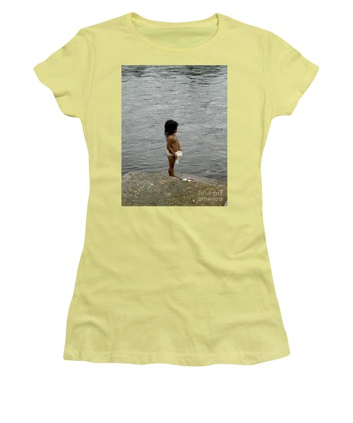 Little Laundress Women's T-Shirt (Junior Cut) by Kathy McClure