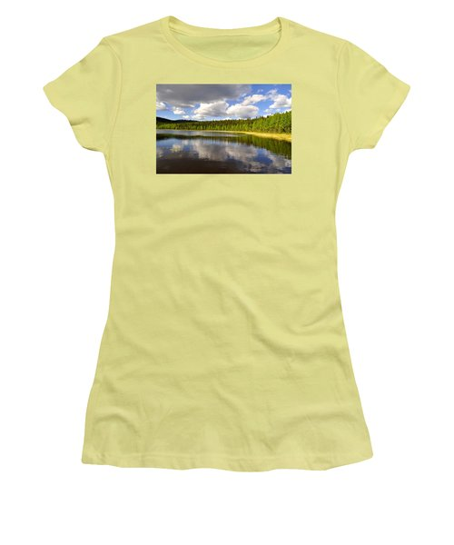Women's T-Shirt (Junior Cut) featuring the photograph Little Lost Lake by Cathy Mahnke